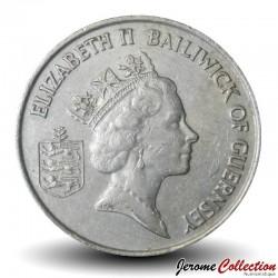 GUERNESEY (île de) - PIECE de 10 Pence - Tomates - 1987