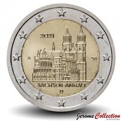 ALLEMAGNE - PIECE de 2 Euro - Le land de Saxe-Anhalt et la cathédrale de Magdebourg - 2021 - A - Berlin N#267621