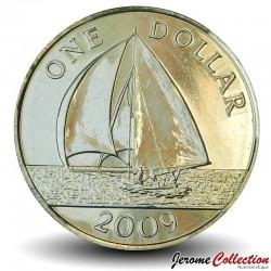 BERMUDES - PIECE de 1 Dollar - Bateau à voile - 2009 Km#111