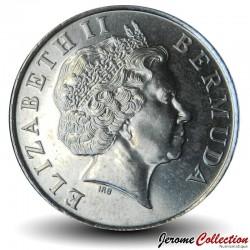BERMUDES - PIECE de 5 Cents - Poisson ange - 2005
