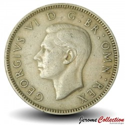 ROYAUME UNI - PIECE de 1 Shilling George VI - Le cimier anglais - 1948