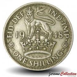 ROYAUME UNI - PIECE de 1 Shilling George VI - Le cimier anglais - 1948 Km#863