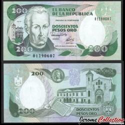 COLOMBIE - Billet de 200 Pesos Oro - 10.08.1992 P429Aa