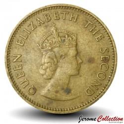 JERSEY - PIECE de ¼ shilling - Elizabeth II - 1957 Km#22