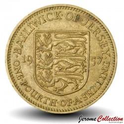 JERSEY - PIECE de ¼ shilling - Elizabeth II - 1957