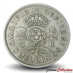 ROYAUME UNI - PIECE de 2 Shillings - George VI - 1951 Km#895