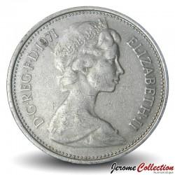 ROYAUME UNI - PIECE de 5 Nouveaux Pence - Un chardon couronné - 1971