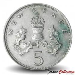 ROYAUME UNI - PIECE de 5 Nouveaux Pence - Un chardon couronné - 1971 Km#911