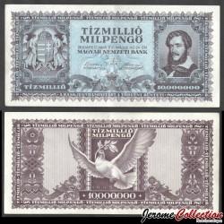 HONGRIE - Billet de 10 000 000 Milpengő - Lajos Kossuth - 1946 P129a