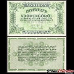 HONGRIE - Billet de 50.000 (Ötvenezer) Adópengő - 1946 P138c