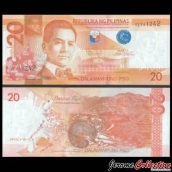 PHILIPPINES - Billet de 20 Piso - Civette - 2016J P206a13