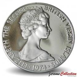 ÎLES VIERGES BRITANNIQUES - PIECE de 5 Cents - Tourterelles à queue carrée - 1974