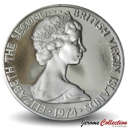 ÎLES VIERGES BRITANNIQUES - PIECE de 10 Cents - Martin-pêcheur - 1974