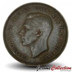 AUSTRALIE - PIECE de 1/2 Penny - Kangourou - 1947
