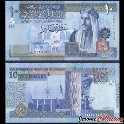 JORDANIE - Billet de 10 Dinars - 2020 P36h