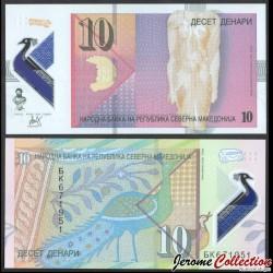 MACEDOINE DU NORD - Billet de 10 Denari - Polymer - 2020 P27a
