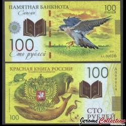 RUSSIE - Billet de 100 Roubles - Livre rouge de Russie - Faucon - Polymer - 2020 redbook_faucon