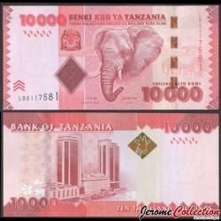 TANZANIE - Billet de 10000 Shillings - Tête d'éléphant - 2020 P44c