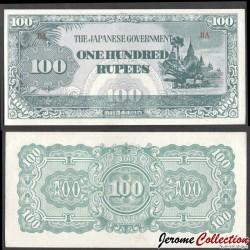Birmanie (Gouvernement Japonais) - Billet de 100 Roupies - 1944 P17b