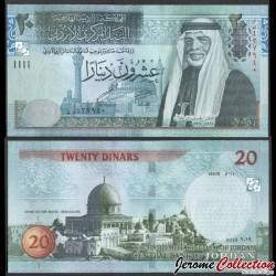 JORDANIE - Billet de 20 Dinars - Le roi Hussein II - 2019 P37f