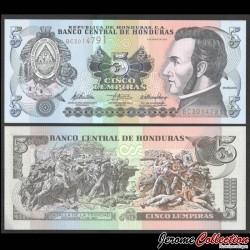 HONDURAS - Billet de 5 Lempiras - 06.05.2010 P91c