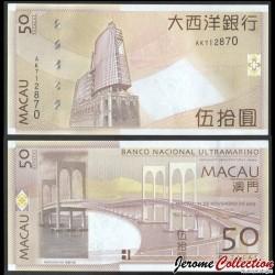 MACAO - Billet de 50 Patacas - Sai Van Bridge - 2013 P81Ab