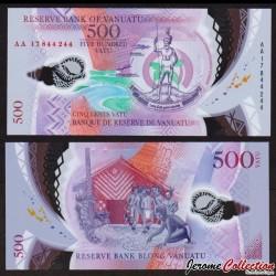 VANUATU - Billet de 500 Vatu - Polymer - 2017