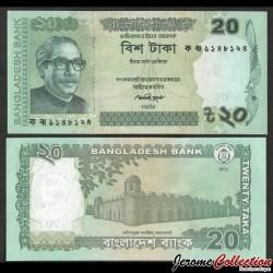 BANGLADESH - Billet de 20 Taka - 2012 P55b