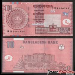 BANGLADESH - Billet de 10 Taka - Assemblée nationale - 2008 P47a