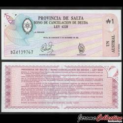 ARGENTINE - Provincia de SALTA - Billet de 1 Austral - 1987 S2612e