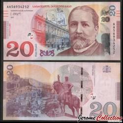 GEORGIE - Billet de 20 Lari - Ilya Chavchavadze - 2021 P78b