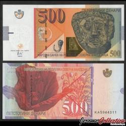 MACEDOINE DU NORD - Billet de 500 Denari - Masque mortuaire - 2020 P28a