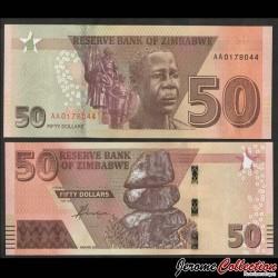 ZIMBABWE - Billet de 50 DOLLARS - Tombe du Soldat inconnu - 2020 P105a