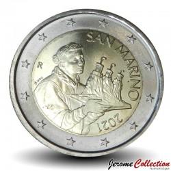 SAINT-MARIN - PIECE de 2 Euro - Le portrait de Saint Marin - 2021 N#117669
