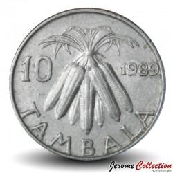 MALAWI - PIECE de 10 Tambala - Epis de maïs - 1989