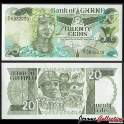 GHANA - Billet de 20 Cedis - Reine mère Yaa Asentewa - 1986 P24b