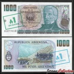 ARGENTINE - Billet de 1 Australe sur 1000 Pesos - 1985 P320a