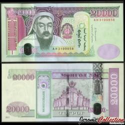 MONGOLIE - Billet de 20000 Tögrög - Gengis Khan - 2013 P71b