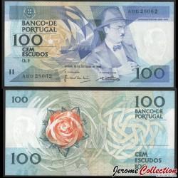 PORTUGAL - Billet de 100 Escudos - Fernando Pessoa - 1986 P179a4