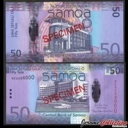 SAMOA - BILLET de 50 Tala - Bâtiment du gouvernement du Samoa - SPECIMEN - 2017 P41cs