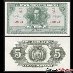 BOLIVIE - Billet de 5 Bolivianos - Simón Bolívar - 1928 P129a2