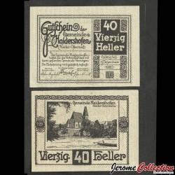 AUTRICHE - Billet de 40 Heller - Haidershofen - 1920 N#220789