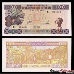 GUINEE - Billet de 100 Francs - 2012 P35c