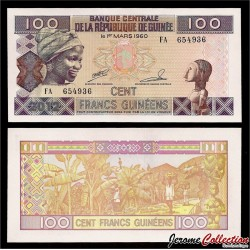 GUINEE - Billet de 100 Francs - 2012