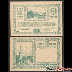 AUTRICHE - Billet de 20 Heller - Zwettl im Mühlkreis - 1921 N#272668