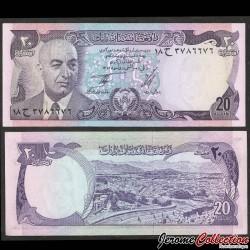 AFGHANISTAN - Billet de 20 Afghanis - Président Mohammad Daoud Khan - 1973 P48a
