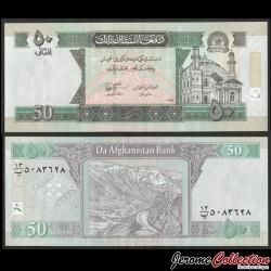 AFGHANISTAN - Billet de 50 Afghanis - Mosquée Shah-Do Shamshira - 2012 P69e