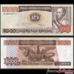 BOLIVIE - Billet de 5000 Pesos Bolivianos - 1984 P168a