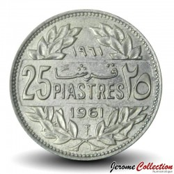 LIBAN - PIECE de 25 Qirshā / Piastres - 1961 Km#16.2