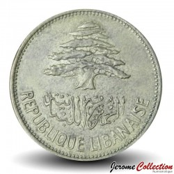 LIBAN - PIECE de 25 Qirshā / Piastres - 1961